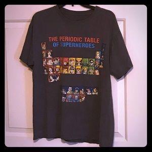 Periodic table of Superheroes Tee🧪🦸🏽♀️🦹🏼♂️